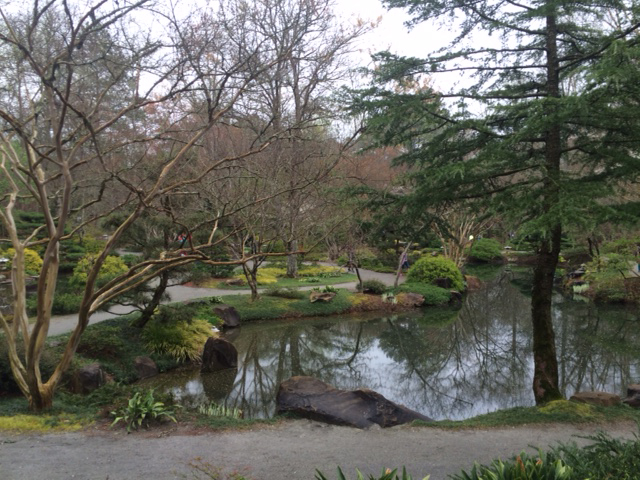 side of pond Japanese Garden