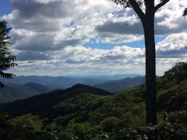 View from near Clingman's Dome in TN from September 2016