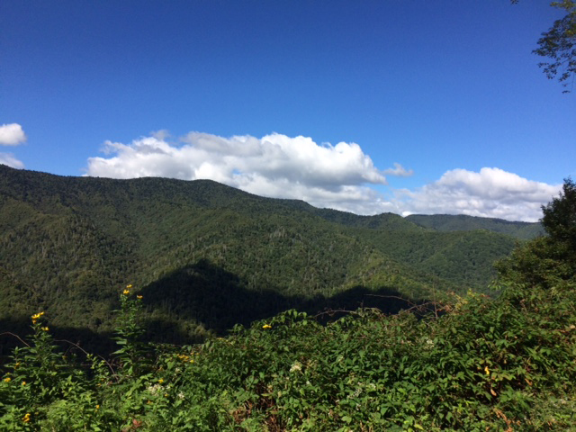 mountain view near Pigeon Forge, TN Sept. 2016